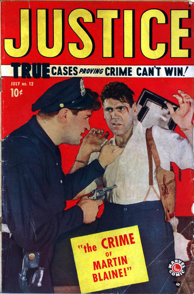 Cover for Justice (Marvel, 1947 series) #12