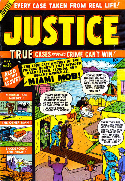 Cover for Justice (Marvel, 1947 series) #20