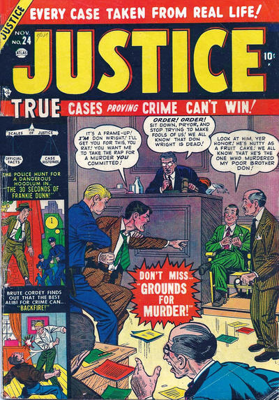 Cover for Justice (Marvel, 1947 series) #24