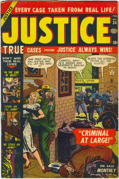 Cover for Justice (Marvel, 1947 series) #34