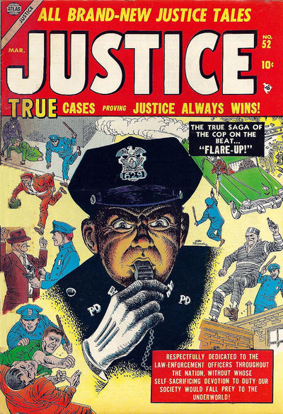 Cover for Justice (Marvel, 1947 series) #52