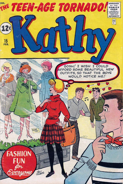 Cover for Kathy (Marvel, 1959 series) #15