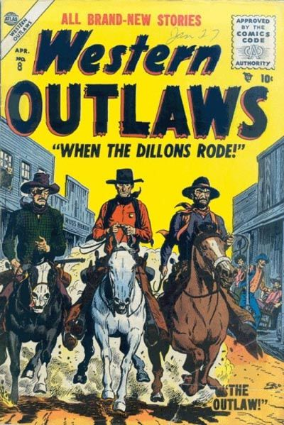 Cover for Western Outlaws (Marvel, 1954 series) #8