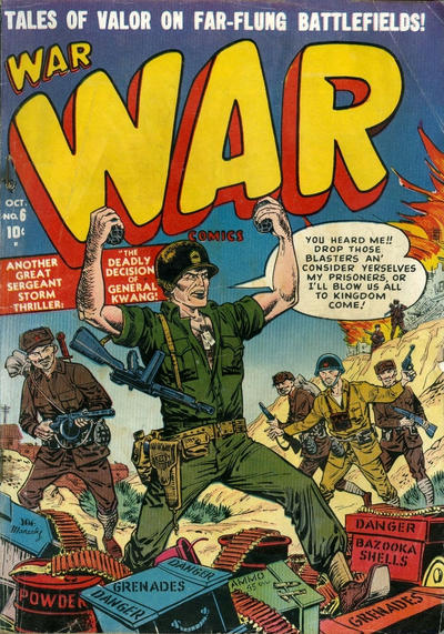 Cover for War Comics (Marvel, 1950 series) #6