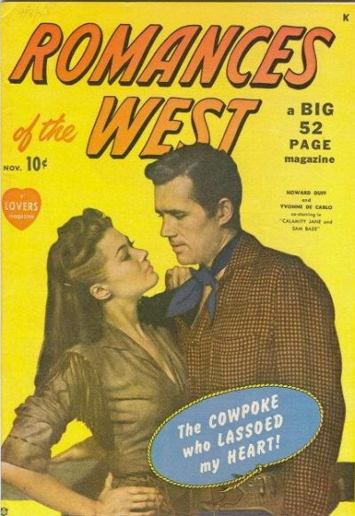 Cover for Romances of the West (Marvel, 1949 series) #1