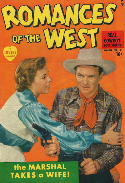 Cover for Romances of the West (Marvel, 1949 series) #2