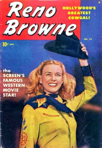 Cover for Reno Browne, Hollywood's Greatest Cowgirl (Marvel, 1950 series) #52