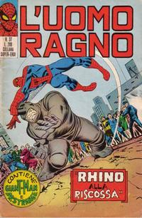 Cover Thumbnail for L'Uomo Ragno [Collana Super-Eroi] (Editoriale Corno, 1970 series) #37