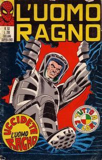 Cover Thumbnail for L'Uomo Ragno [Collana Super-Eroi] (Editoriale Corno, 1970 series) #53
