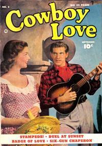 Cover Thumbnail for Cowboy Love (Fawcett, 1949 series) #3