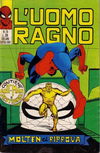 Cover for L'Uomo Ragno [Collana Super-Eroi] (Editoriale Corno, 1970 series) #29
