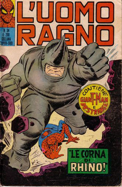 Cover for L'Uomo Ragno [Collana Super-Eroi] (Editoriale Corno, 1970 series) #34