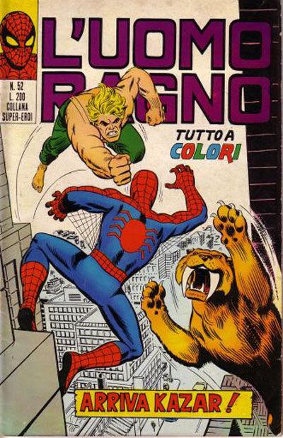 Cover for L'Uomo Ragno [Collana Super-Eroi] (Editoriale Corno, 1970 series) #52