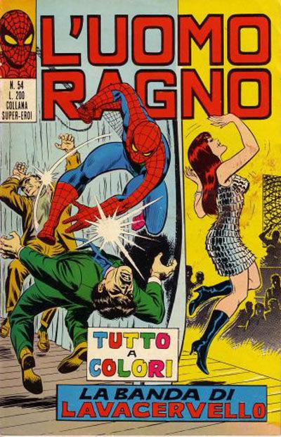 Cover for L'Uomo Ragno [Collana Super-Eroi] (Editoriale Corno, 1970 series) #54