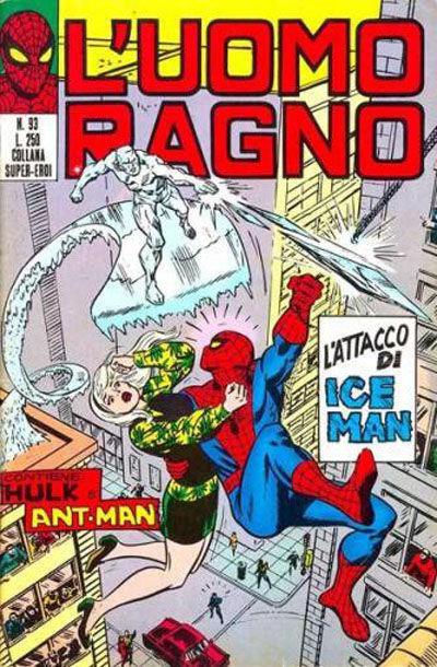 Cover for L'Uomo Ragno [Collana Super-Eroi] (Editoriale Corno, 1970 series) #93
