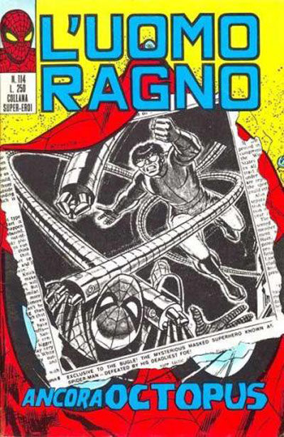 Cover for L'Uomo Ragno [Collana Super-Eroi] (Editoriale Corno, 1970 series) #114