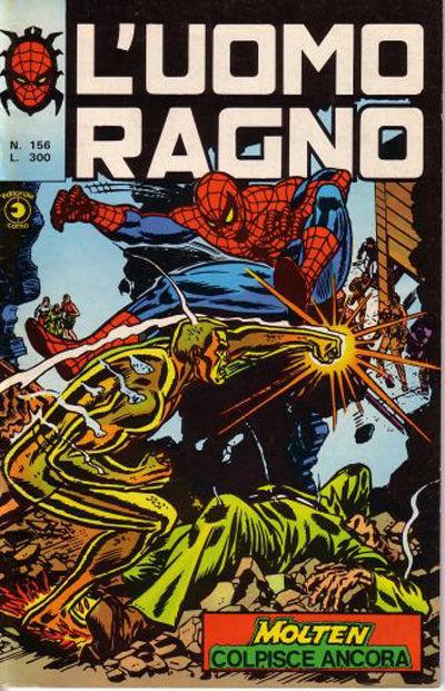 Cover for L'Uomo Ragno [Collana Super-Eroi] (Editoriale Corno, 1970 series) #156