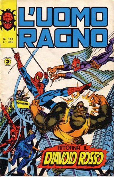 Cover for L'Uomo Ragno [Collana Super-Eroi] (Editoriale Corno, 1970 series) #164