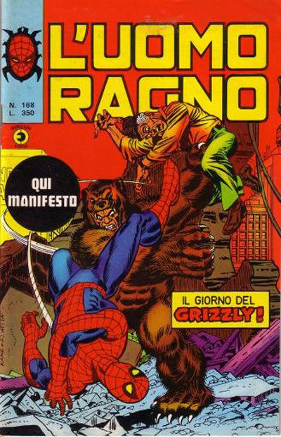Cover for L'Uomo Ragno [Collana Super-Eroi] (Editoriale Corno, 1970 series) #168