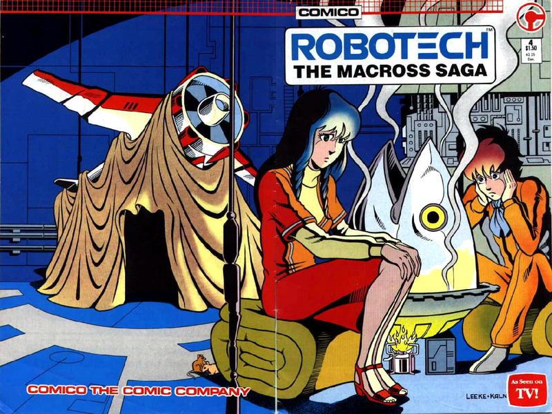 Cover for Robotech: The Macross Saga (Comico, 1985 series) #4