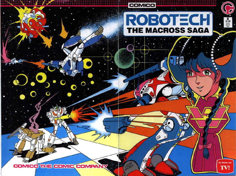 Cover for Robotech: The Macross Saga (Comico, 1985 series) #8