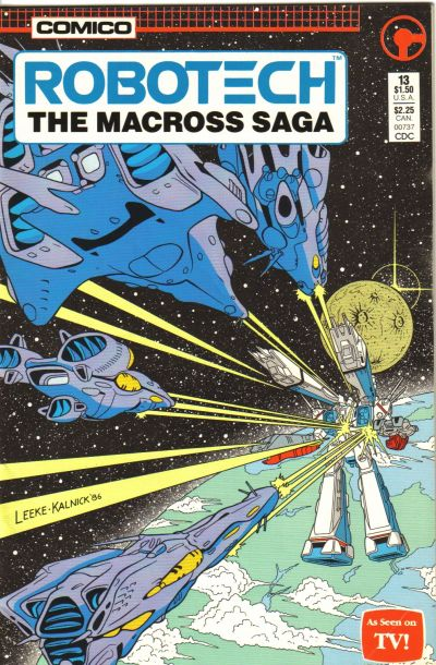 Cover for Robotech: The Macross Saga (Comico, 1985 series) #13 [newsstand]