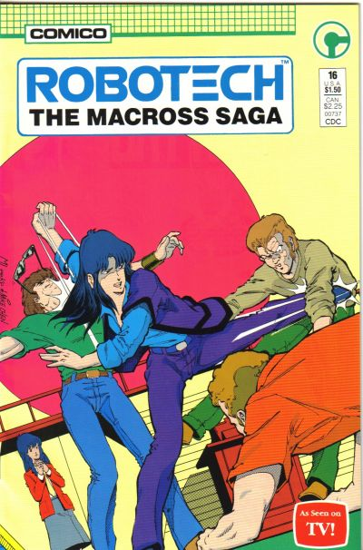Cover for Robotech: The Macross Saga (Comico, 1985 series) #16
