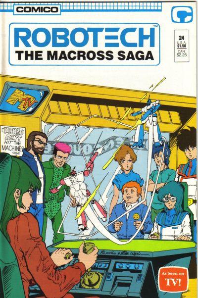 Cover for Robotech: The Macross Saga (Comico, 1985 series) #24