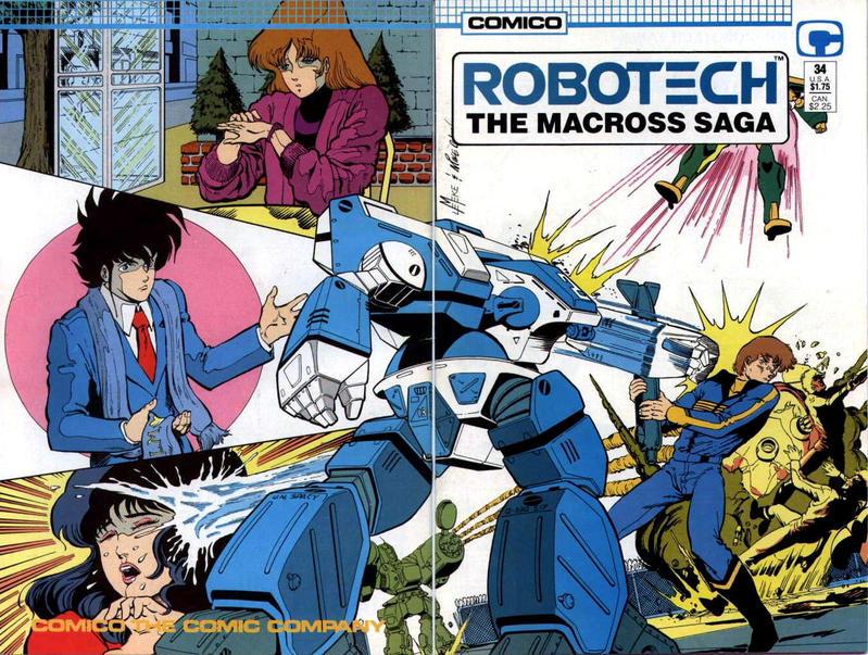 Cover for Robotech: The Macross Saga (Comico, 1985 series) #34