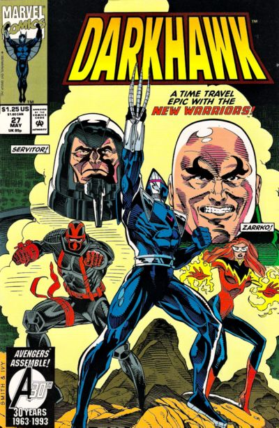 Cover for Darkhawk (Marvel, 1991 series) #27 [Direct]