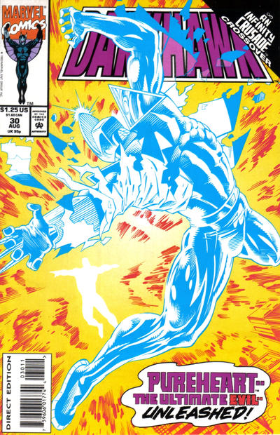 Cover for Darkhawk (Marvel, 1991 series) #30 [Direct Edition]