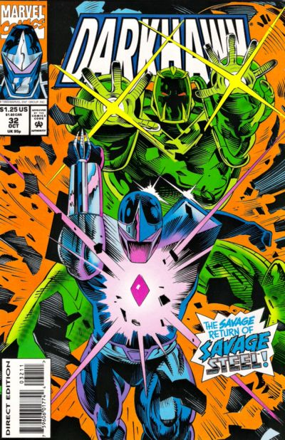 Cover for Darkhawk (Marvel, 1991 series) #32 [Direct Edition]