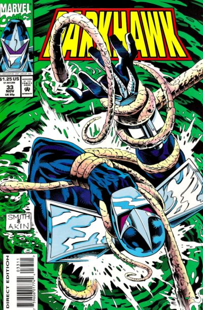Cover for Darkhawk (Marvel, 1991 series) #33 [Direct Edition]