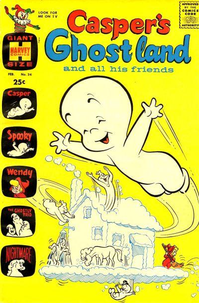 Cover for Casper's Ghostland (Harvey, 1959 series) #34