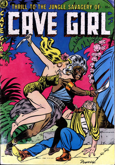 Cover for Cave Girl (Magazine Enterprises, 1953 series) #12 (A-1 #96)