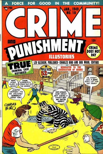 Cover for Crime and Punishment (Lev Gleason, 1948 series) #10