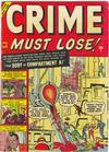 Cover for Crime Must Lose (Marvel, 1950 series) #6