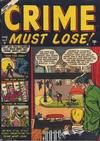 Cover for Crime Must Lose (Marvel, 1950 series) #7