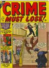 Cover for Crime Must Lose (Marvel, 1950 series) #9