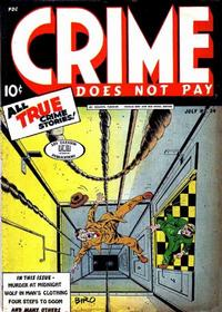 Cover Thumbnail for Crime Does Not Pay (Lev Gleason, 1942 series) #34