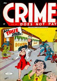 Cover Thumbnail for Crime Does Not Pay (Lev Gleason, 1942 series) #36