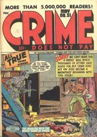 Cover Thumbnail for Crime Does Not Pay (Lev Gleason, 1942 series) #51