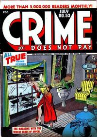 Cover Thumbnail for Crime Does Not Pay (Lev Gleason, 1942 series) #53