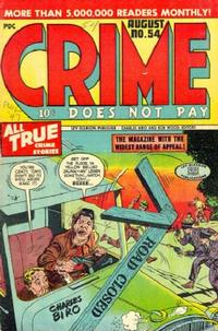 Cover Thumbnail for Crime Does Not Pay (Lev Gleason, 1942 series) #54