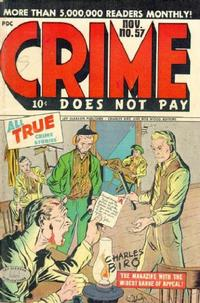 Cover Thumbnail for Crime Does Not Pay (Lev Gleason, 1942 series) #57