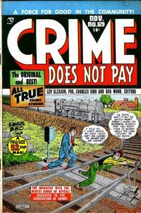 Cover Thumbnail for Crime Does Not Pay (Lev Gleason, 1942 series) #69