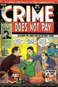 Cover Thumbnail for Crime Does Not Pay (Lev Gleason, 1942 series) #75
