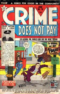 Cover Thumbnail for Crime Does Not Pay (Lev Gleason, 1942 series) #76