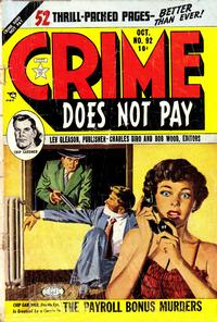 Cover Thumbnail for Crime Does Not Pay (Lev Gleason, 1942 series) #92