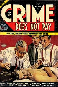 Cover Thumbnail for Crime Does Not Pay (Lev Gleason, 1942 series) #102